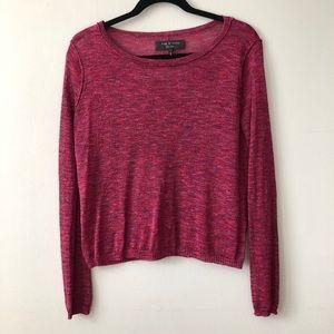 Rag & Bone red purple marl sweater XS
